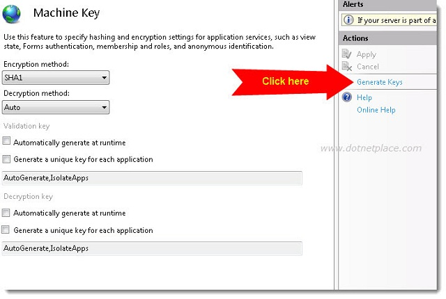 How to Generate Machine Key in IIS7 - CodeProject
