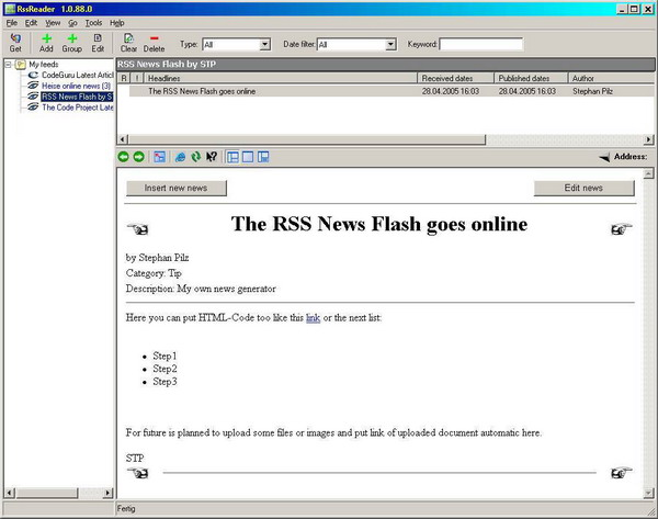 A Simple RSS News Generating Tool - CodeProject
