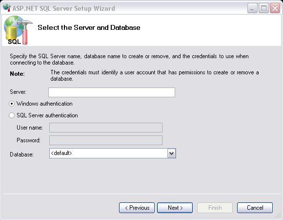 sql server 2005 connection string in c windows application