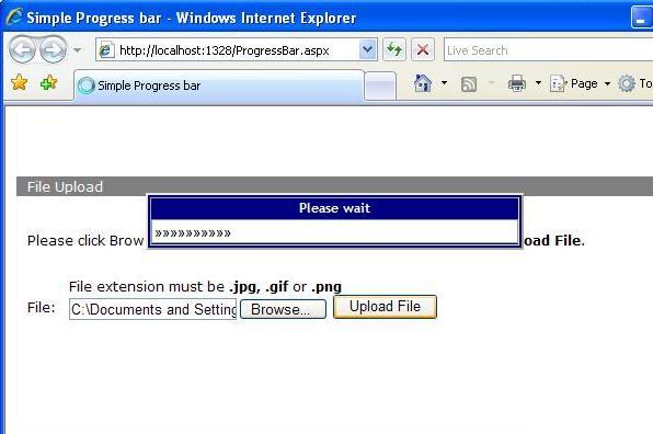 File Upload Progress bar without Using AJAX - CodeProject