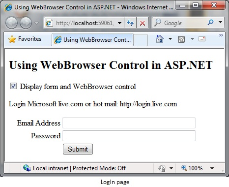 Using the WebBrowser Control in ASP NET - CodeProject