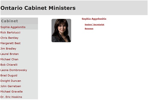 Outout Minister page