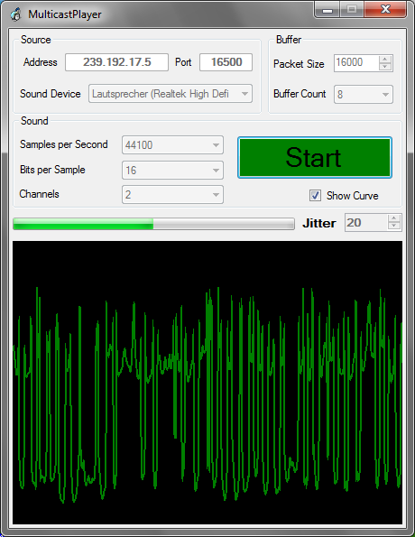 Play or Capture Audio Sound  Send and Receive as Multicast