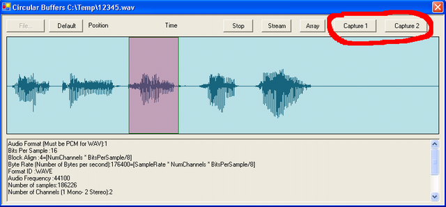 Play and Visualize WAV Files using Managed Direct Sound with