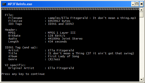 MP3FileInfo - Extract Header and ID3 Tags of an MP3 File - CodeProject