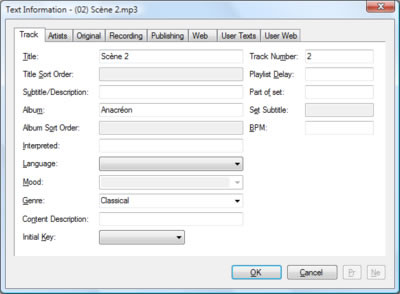 Professional Tag Editor for MP3 (ID3) and WMA - CodeProject
