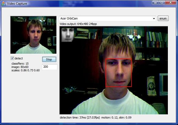 Face Detection C++ Library with Skin and Motion Analysis
