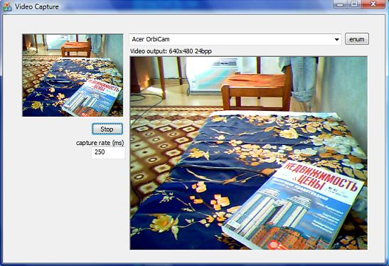 Video Preview and Frames Capture to Memory with