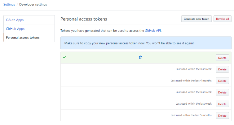 Obtaining a GitHub PAT