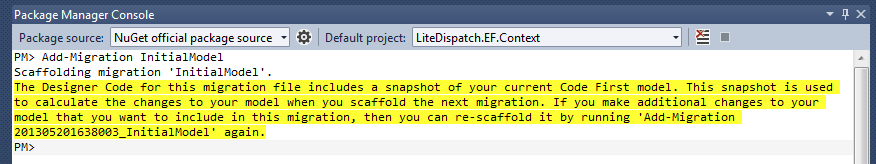 Add Migration Command