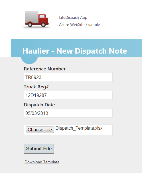 New Dispatch Form