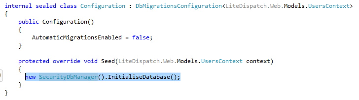 Code to see database