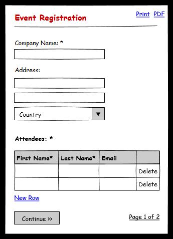 Registration Form Sample For Event