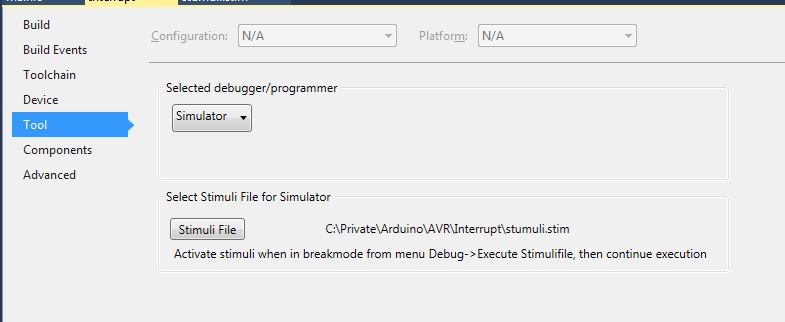 Introduction to Simulate External Interrupts Using Atmel Studio for