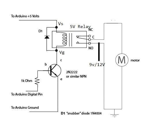 figure 9 3 shows the circuit diagram of 5v relay whose actual connection is shown in figure 9 4 i have used a 9v battery as vcc you can also use 9v 12v