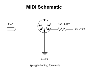 midi connector wiring