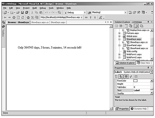 ASP  NET Kick Start Chapter 3: Creating Basic Web Form Pages