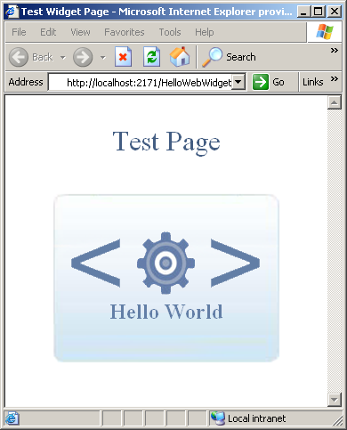 Chapter 5: Creating Web Widget with HTML, CSS, and