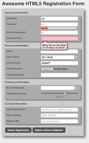 HTML5 in Action: Changing the Face of Web Forms with New Input ...