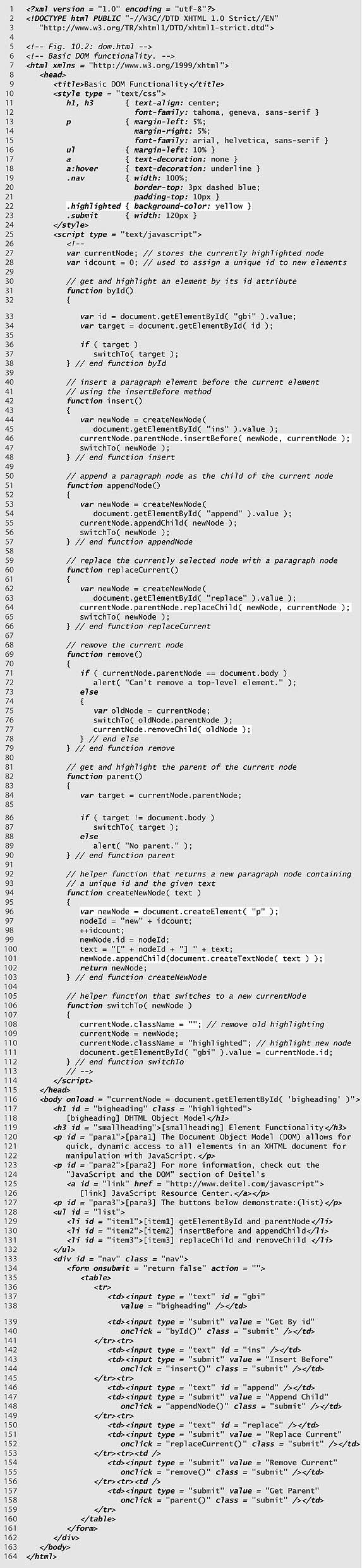 Chapter 10 Document Object Model Dom Objects And Collections
