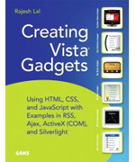 Get the Vista Sidebar Gadget book from Amazon.com