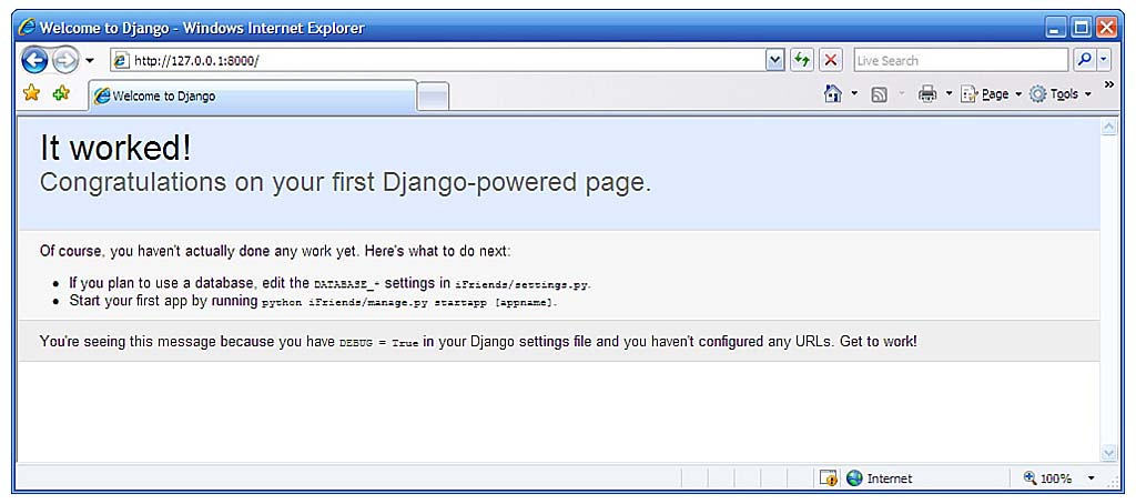 Teach Yourself Django in 24 Hours: Hour 2: Creating Your First