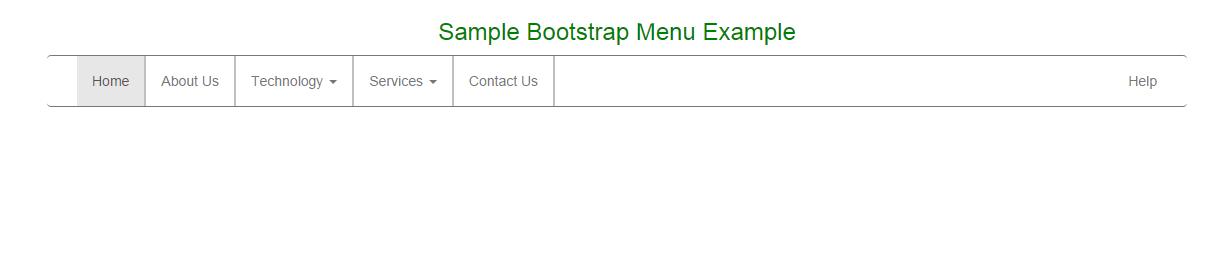 Bootstrap Menu - CodeProject
