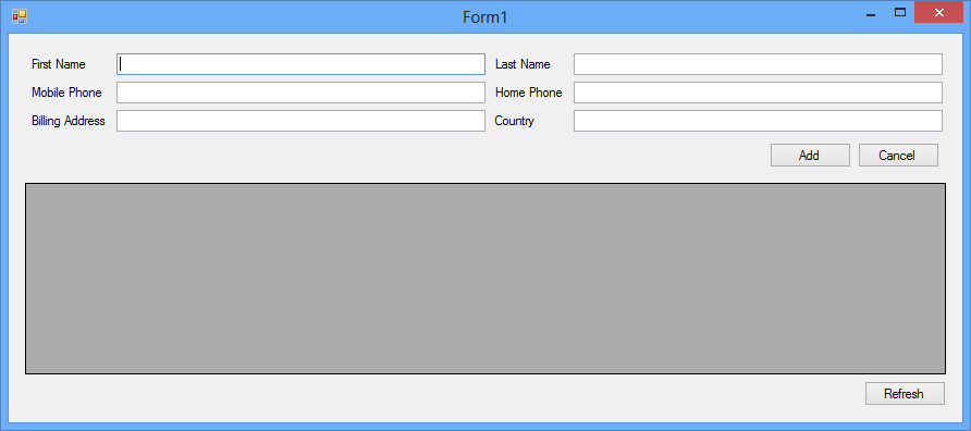 Designing the Layout of Windows Forms using a TableLayoutPanel, with ...