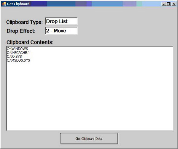Getting the Clipboard File DropEffect in VB NET - CodeProject