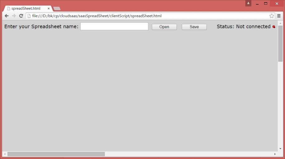 Online Spreadsheet, a low latency html5 websocket Cloud service