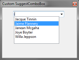ComboBox with Suggest Ability based on Substring-Search