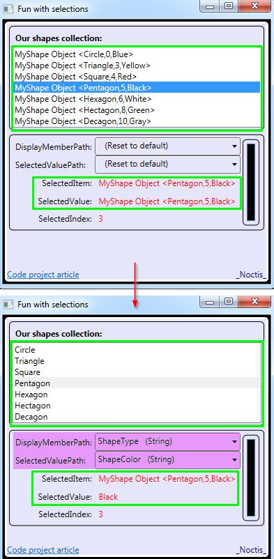 Understanding SelectedValue, SelectedValuePath, SelectedItem
