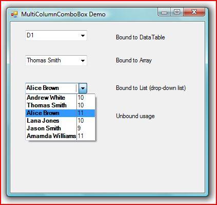 A data-bound multi-column combobox - CodeProject