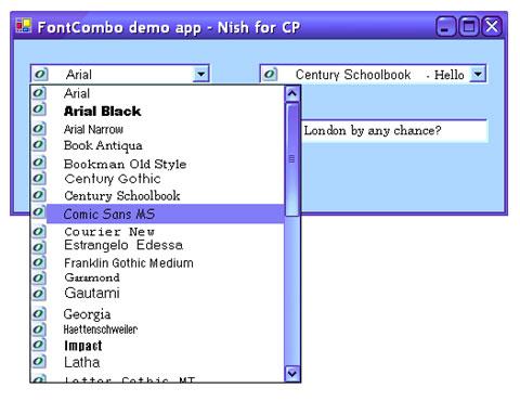 FontComboBox - a font listing combo box for  NET - CodeProject