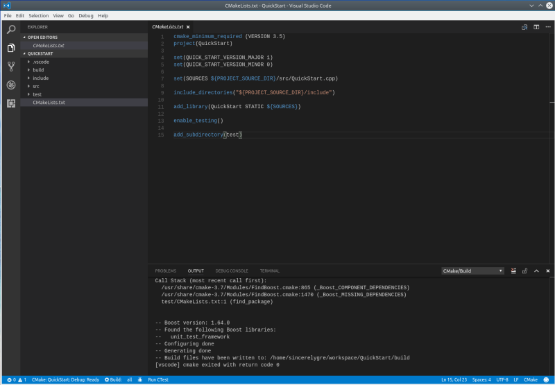 Quick Start to Use Visual Studio Code for C++ Programmers in Linux
