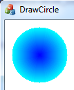 Draw a circle with gradient