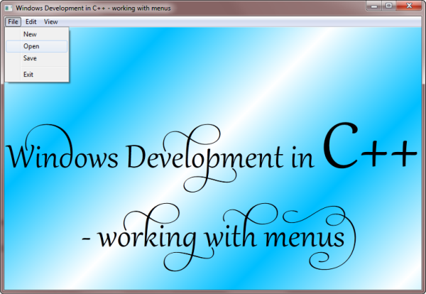 Windows Development in C++, working with menus - CodeProject