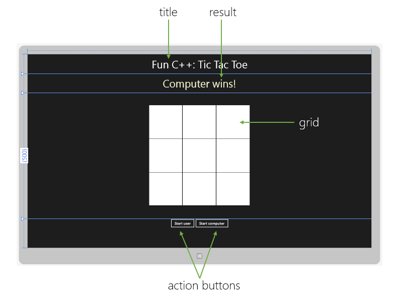 Implementation Of Line Drawing Algorithm In C : C is fun: writing a tic tac toe game codeproject