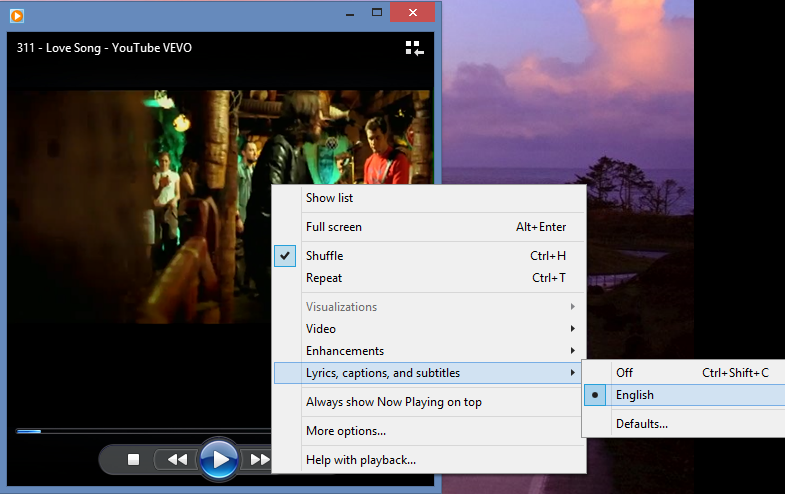 how to add subtitle file in windows media player
