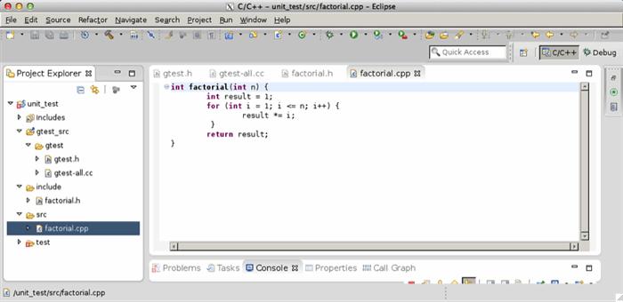 C++ unit test start guide, how to set up Google Test (gtest