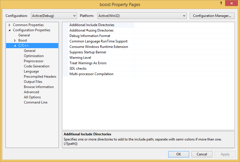 Building and configuring boost in Visual Studio (MSBuild)  - CodeProject
