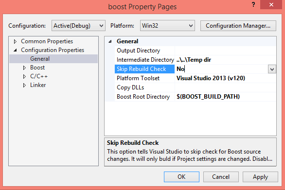 Referencing native projects in Visual Studio (MSBuild