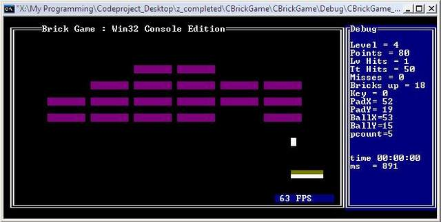 Breakout Game in a Win32 Console - CodeProject