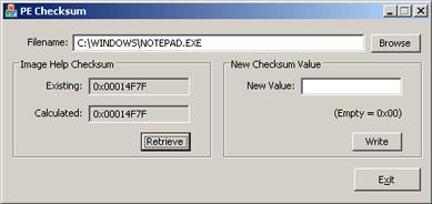 An Analysis of the Windows PE Checksum Algorithm - CodeProject
