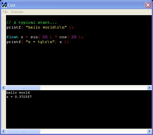 Building a simple c script compiler from scintilla and Compilation c