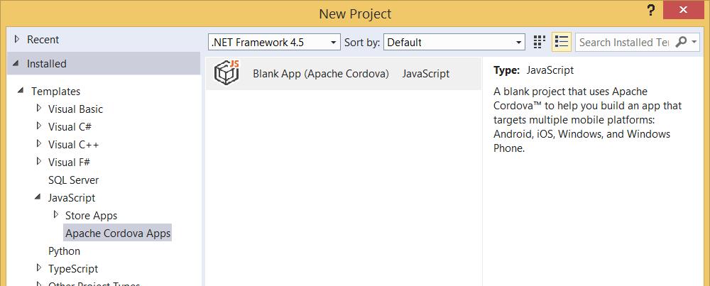 Visual Studio 2015 and Apache Cordova - CodeProject