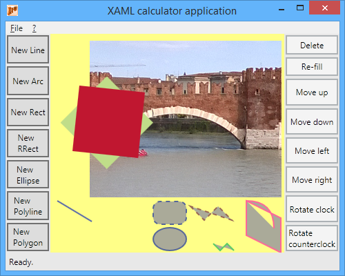 Drawing Lines Wpf : Writing a xaml application with geometry objects shapes