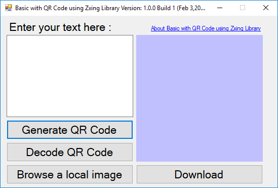 Basic with QR Code using Zxing Library - CodeProject