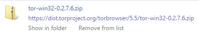 Google Chrome downloads page