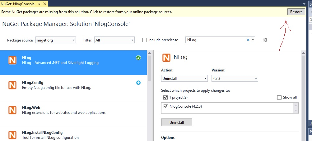 Why nlog references system. Windows. Forms. Dll? · issue #1955 · nlog.